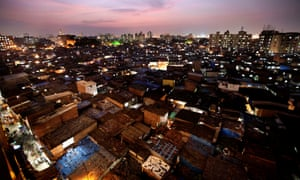 Mumbai's Dharavi slum.