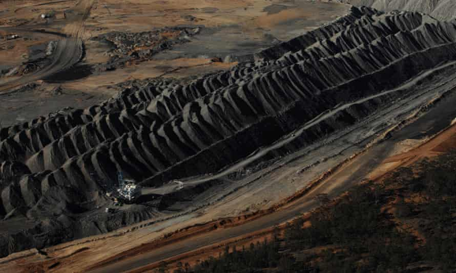 An open-cut mine in the Hunter Valley.