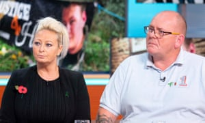 Harry Dunn's parents, Charlotte Charles and Tim Dunn pictured last Monday on the 'Good Morning Britain' ITV show.