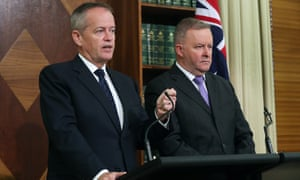 Shadow government services minister Bill Shorten and opposition leader Anthony Albanese