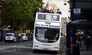 The Leave Means Leave bus in Birmingham.