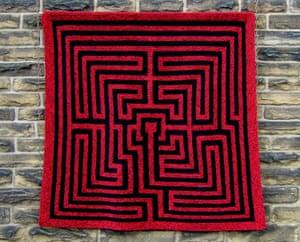 Amazement: a knitted maze.