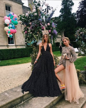 Princess Olympia (right) in the Gucci platform trainers and her friend Princess Talita von Furstenberg.