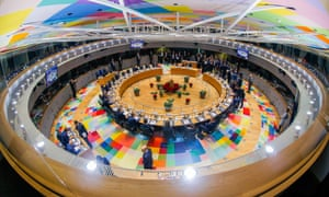 EU leaders gather for the second day of the European council summit in Brussels on Friday.