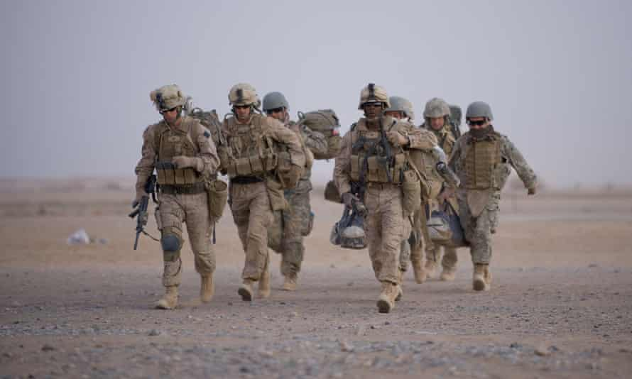 US marines at Camp Dwyer in Helmand province, 2009.
