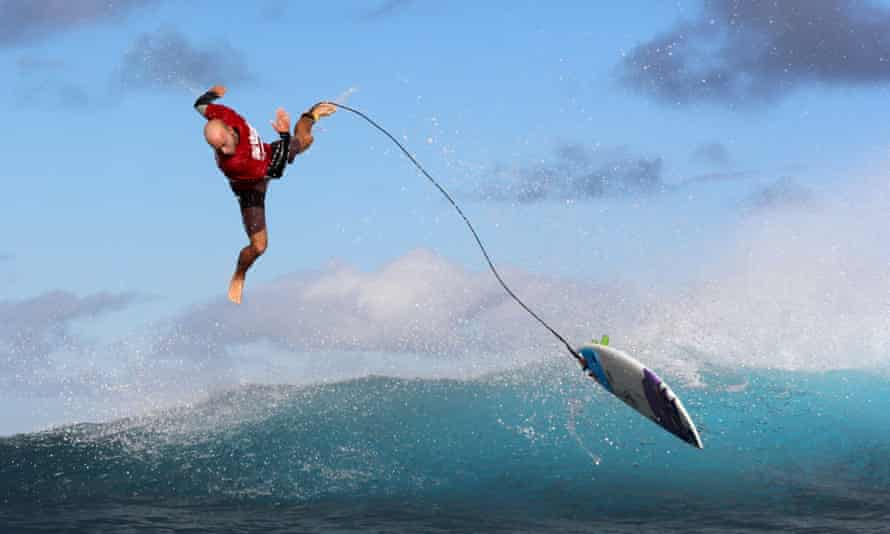 The Pro Tahiti surfing competition.