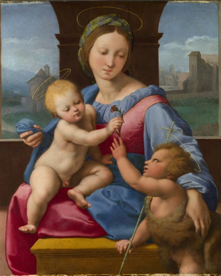 The Madonna and Child with the Infant Baptist by Raphael.