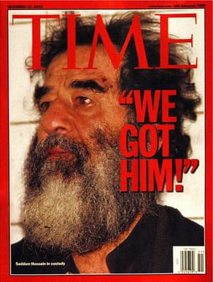 22 December 2003 Time magazines featuring former Iraqi leader Saddam Hussein after his capture by US forces in Tikrit.