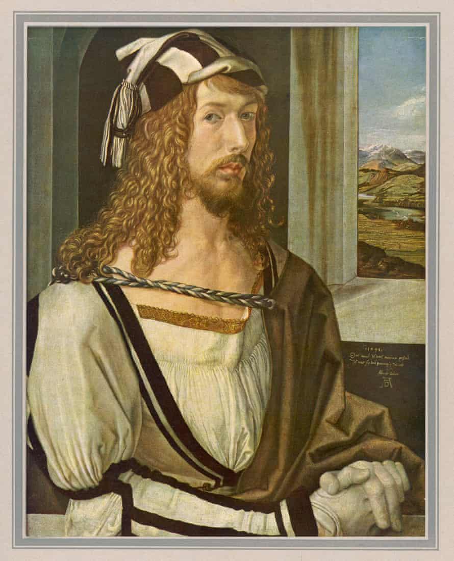 Dürer's 1498 self-portrait: 'a stranger on a train'