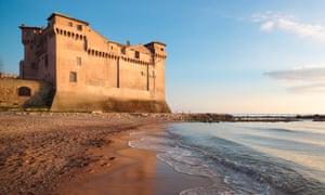 Castello di Santa Severa, on the Lazio coast.