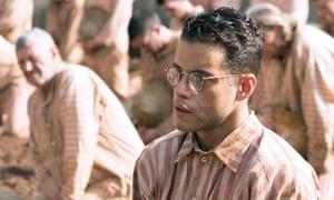 Watchable … Rami Malek as the terrified but haughty Dega.