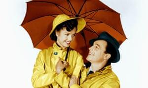 Debbie Reynolds and Gene Kelly in Singin' In The Rain.