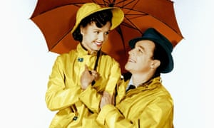 Debbie Reynolds and Gene Kelly in a publicity shot for Singin' in the Rain, 1952.