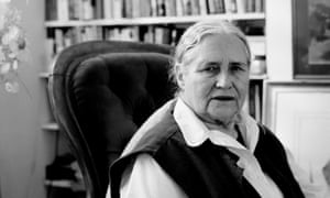 Doris Lessing, at home in London.