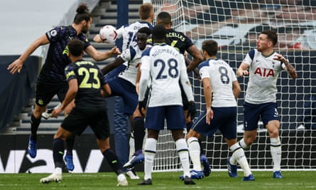 Eric Dier concedes a penalty for handball late on against Newcastle