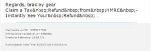 Scam email poor presentation