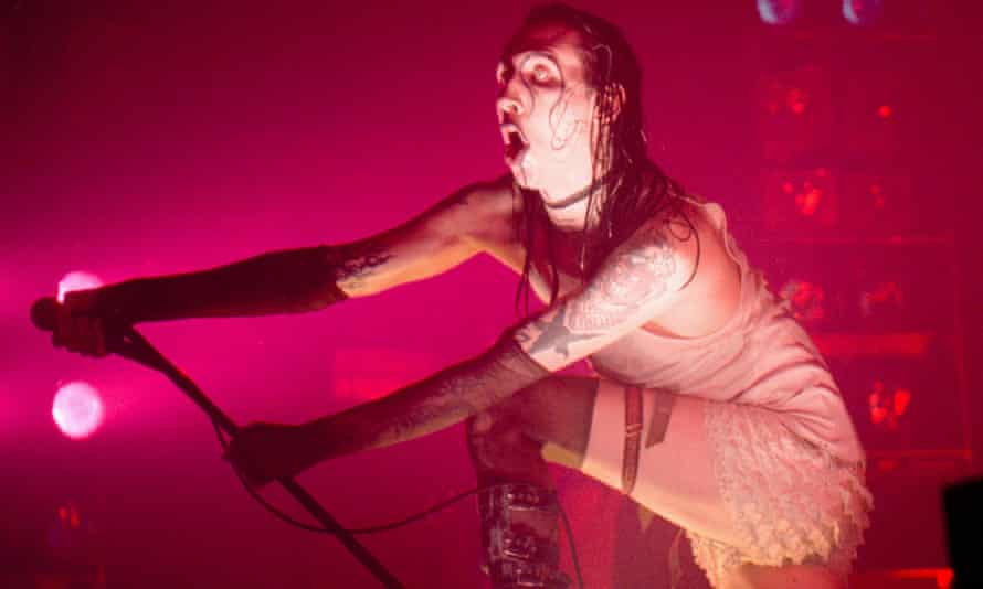 Marilyn Manson on stage in 1997.
