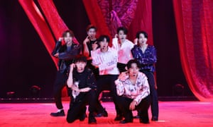 BTS, whose Bang Bang Con: The Live played to 756,000 viewers across 107 regions globally last weekend.