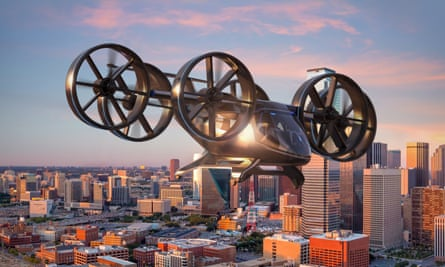 An artist's impression of Bell Helicopter's Nexus in the air.
