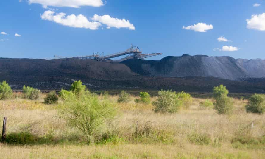 Open cut coalmine near Clermont in central Queensland