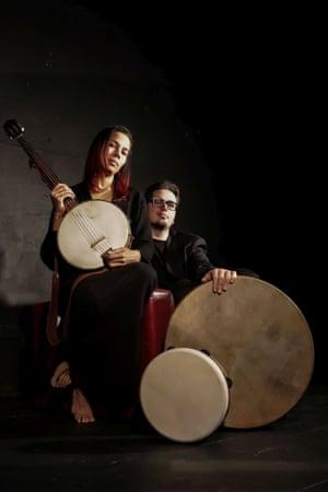 Rhiannon Giddens and Francesco Turrisi.