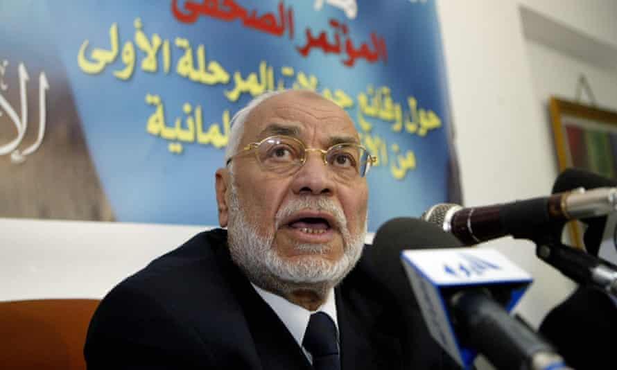 Mohammed Mahdi Akef speaking in Cairo in 2005.