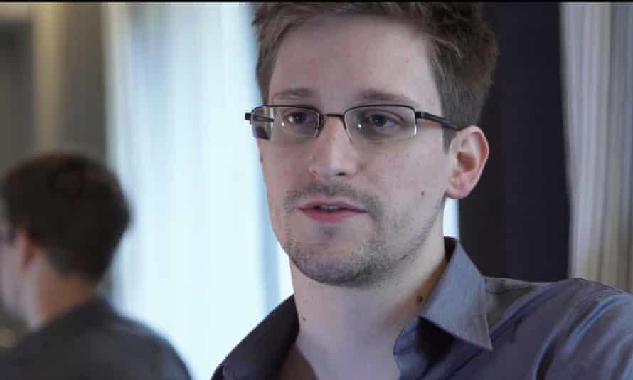 Edward Snowden filmed in Hong Kong by Poitras.