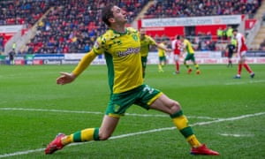 Joy for Norwich after their second goal at Rotherham.
