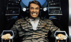 Grip on reality? Arnold Schwarzenegger battles with his memories in the 1990 film Total Recall.