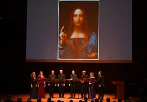 I Fagiolini, with Leonardo's Salvator Mundi, at Milton Court.