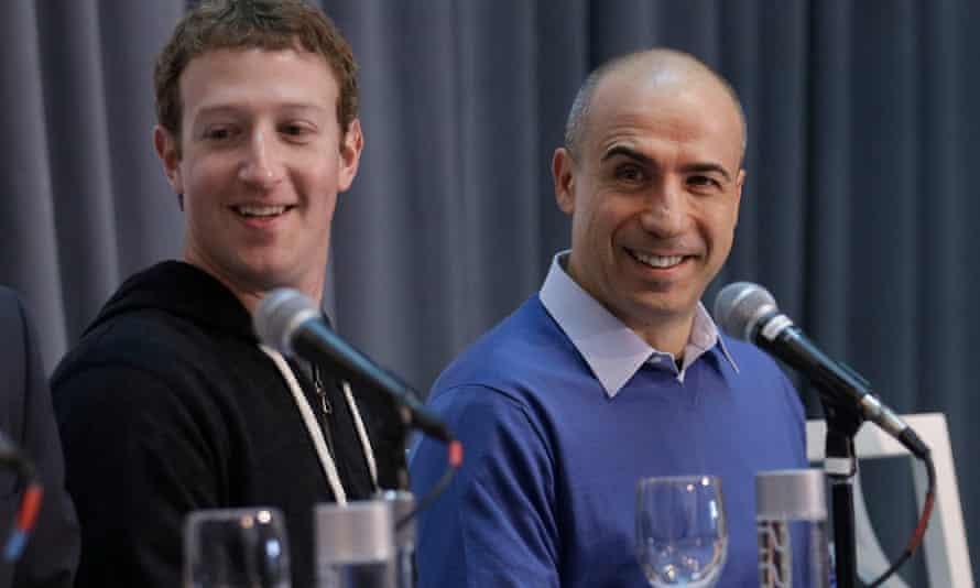 Facebook's Mark Zuckerberg, left, and Russian billionaire Yuri Milner