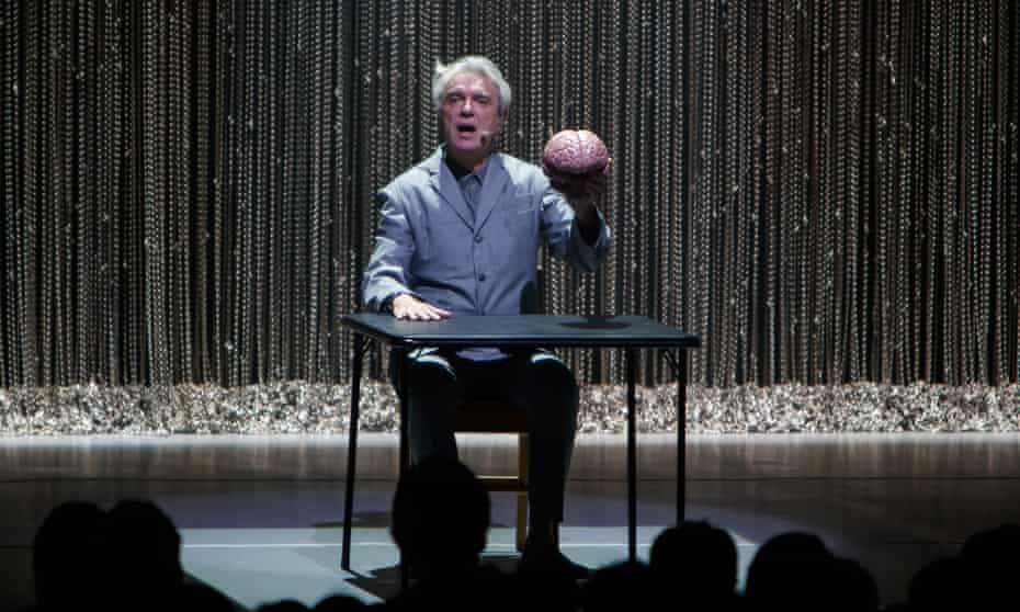 Get a lobe of this: David Byrne performs the opening number for his American Utopia show.