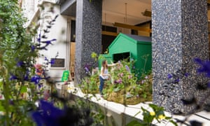 Selfridges has launches its Garden Centre on Oxford Street, with a grow bag installation in front of the store's historic canopy entrance.