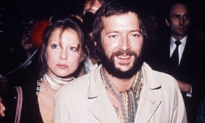 Eric Clapton and Pattie Boyd in 1976.