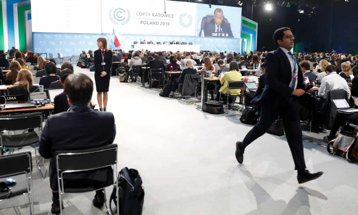 Participants in the 2018 UN climate change conference in Katowice, Poland