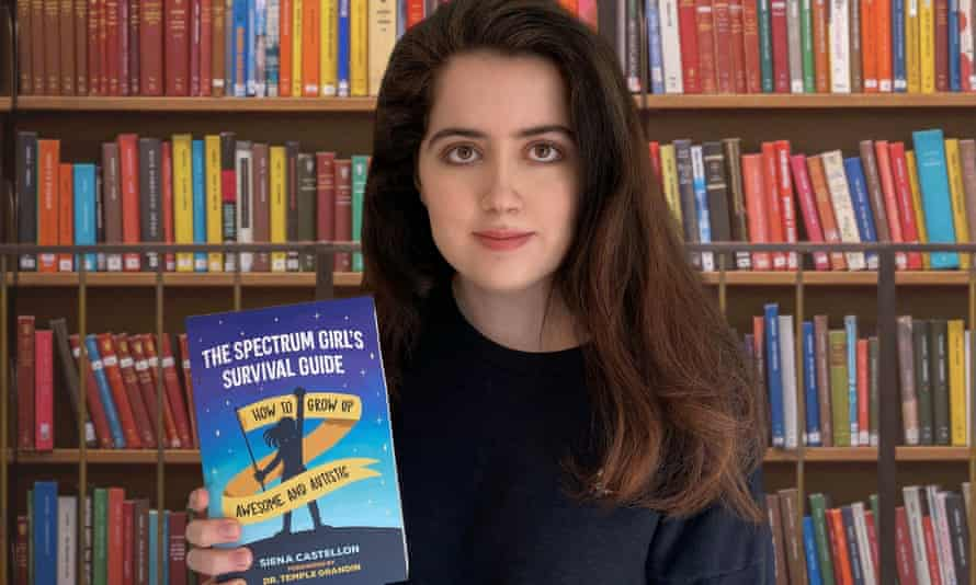Siena Castellon with her book, The Spectrum Girl's Survival Guide