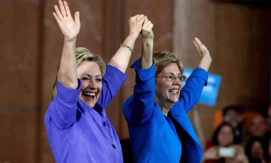 Elizabeth Warren campaigning with Hillary Clinton.