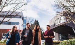 Cardiff Met students on the Llandaff campus.