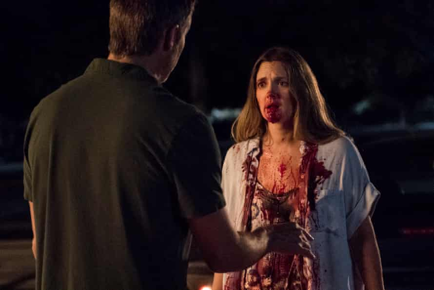 Timothy Olyphant and Drew Barrymore in Santa Clarita Diet.