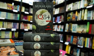 They wouldn't last in Toronto … copies of 1Q84 in a London bookshop.