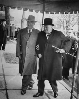 Harry Truman and Winston Churchill. Truman forbade the State Department even to discuss the 'special relationship'.