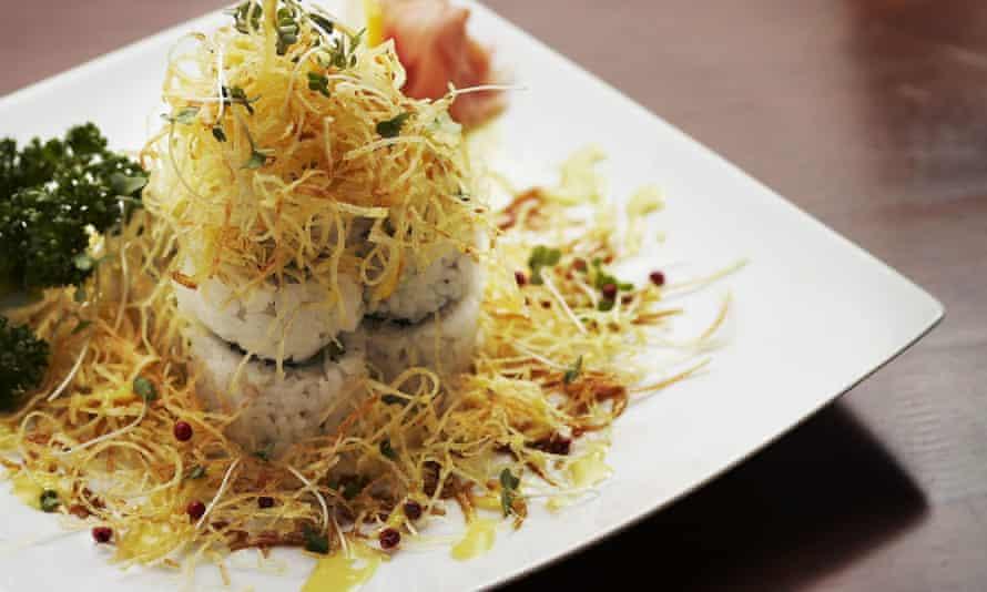 A soy potato roll at Hophouse/Kimchi