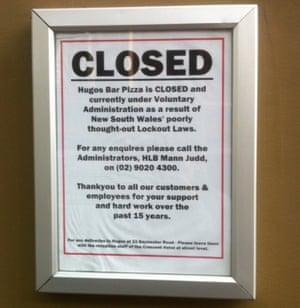 Hugos closure notice