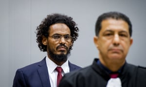 Ahmad al-Faqi al-Mahdi, left, at the international criminal court in The Hague.