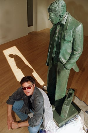 Terry Allen with one of his sculptures.