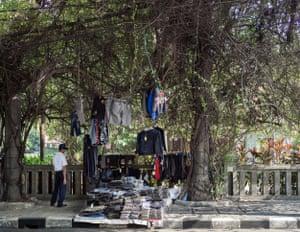 Hanging clothes shop