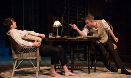 Matthew Beard as Edmund and Rory Keenan as Jamie in Long Day's Journey Into Night, Wyndham's theatre.