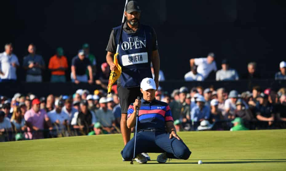 Jordan Spieth recovered from a slow start but his attempt to win a second Open fell just short.