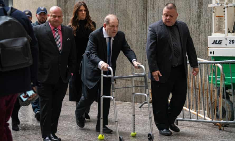 Harvey Weinstein arrives at criminal court on 11 December in New York City.
