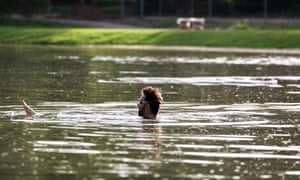 The swimming lake at Beckenham Park Place, south-east London, which opens on 20 July